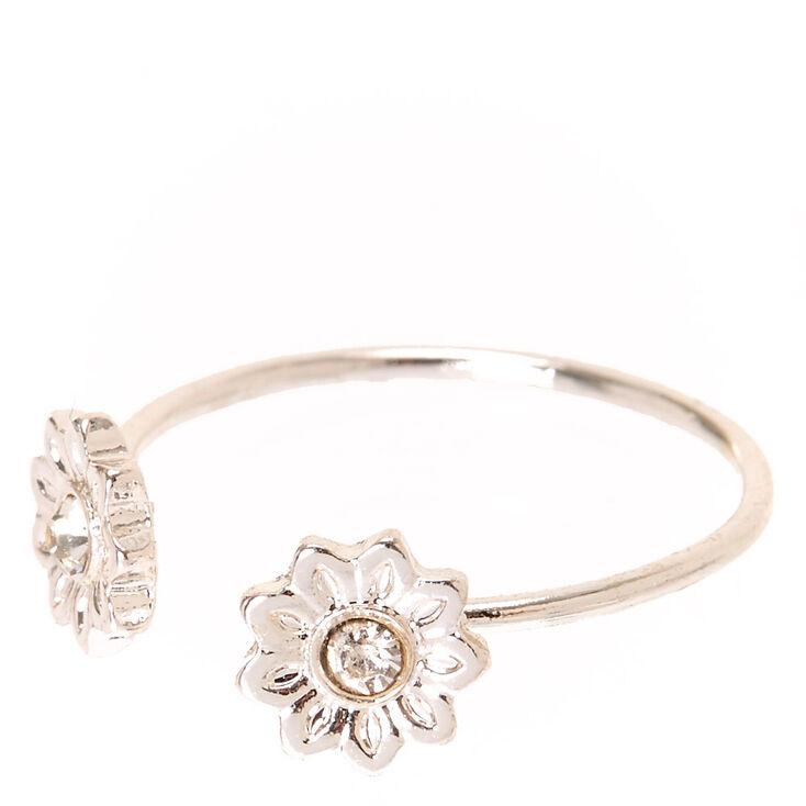 Rhinestone Daisy Ring,