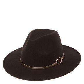 Western Flat Brim Black Hat,