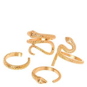Gold Snake Rings,