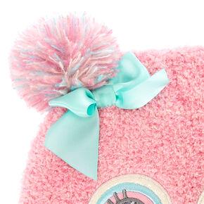 Kids Pink Owl Winter Hat,