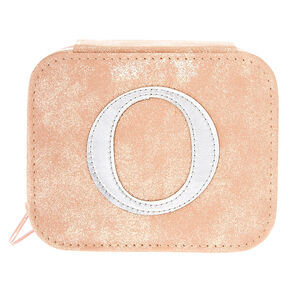 "Blush Pink ""O"" Initial Jewelry Case,"