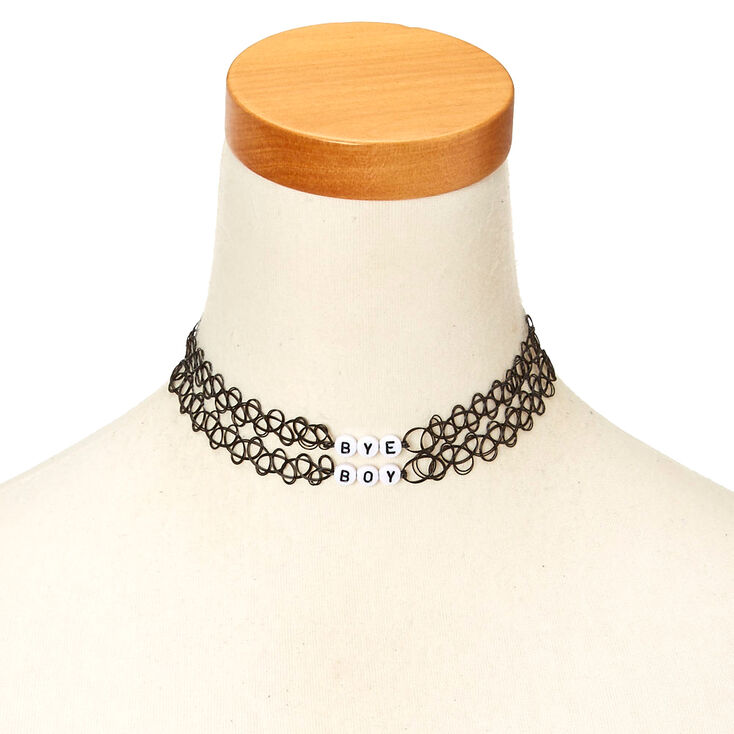 2-Pack BYE BOY Black Tattoo Choker Necklaces at Icing in Victor, NY | Tuggl