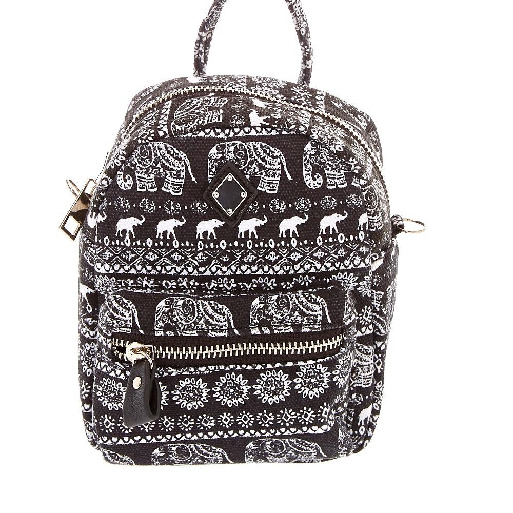mini aztec elephant pattern crossbody bag
