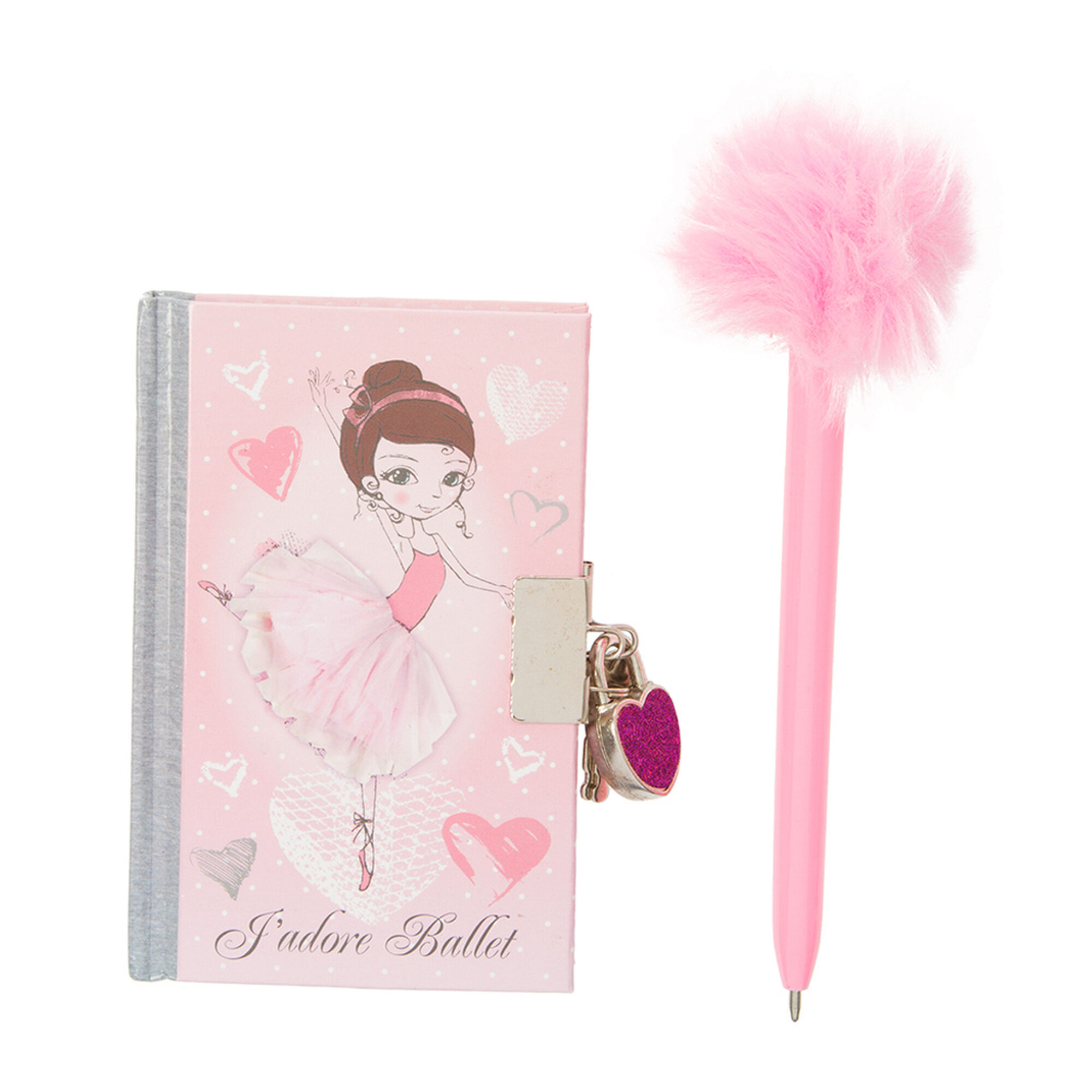 kids ballerina lock diary with pink pen claire u0027s us