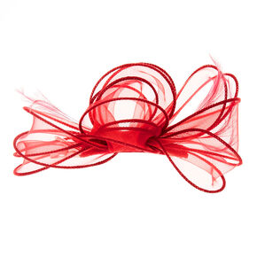 Burgundy Fascinator Bow Clip,