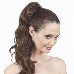 Dark Brunette Styleable XL Curly Ponytailer,
