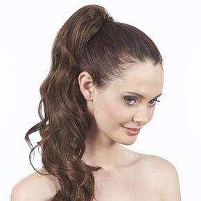 Dark Brunette Styleable XL Curly Ponytailer,
