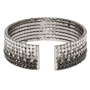 Black Ombre Crystal Cuff Bracelet,