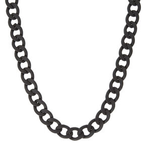 Black Matte Chain Necklace,