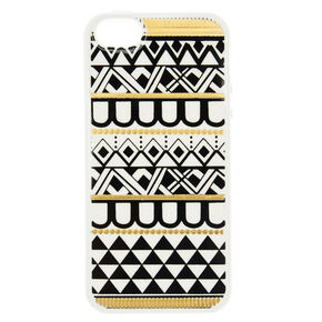 Black and Gold Aztec Phone Case,