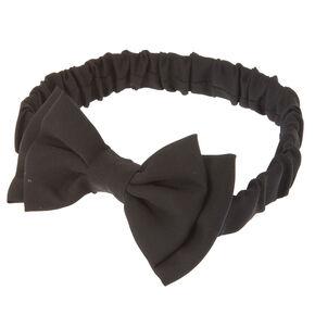 Double Floppy Black Bow Headwrap,