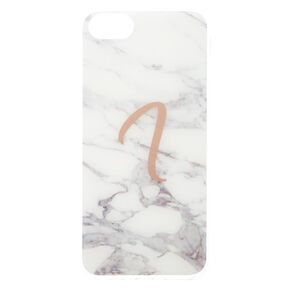Marbled I Initial Phone Case,