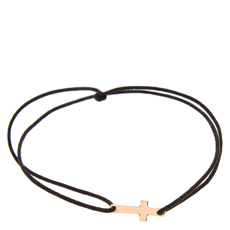 Rose Gold Cross Elastic Bracelet at Icing in Victor, NY | Tuggl