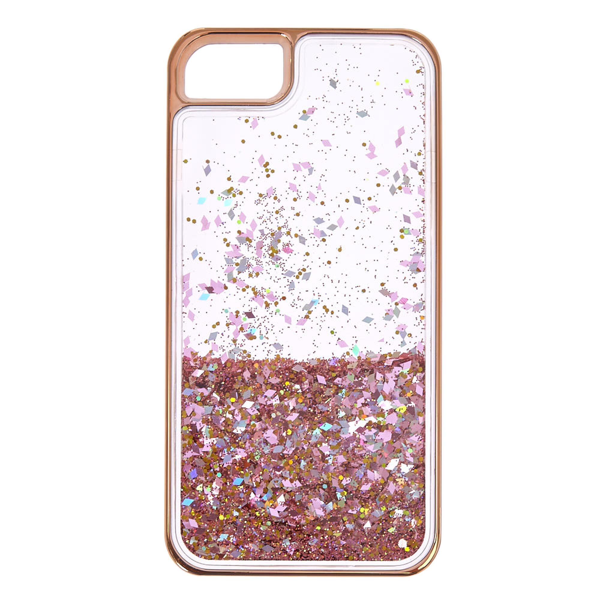 Rose Gold Glitter Iphone  Case