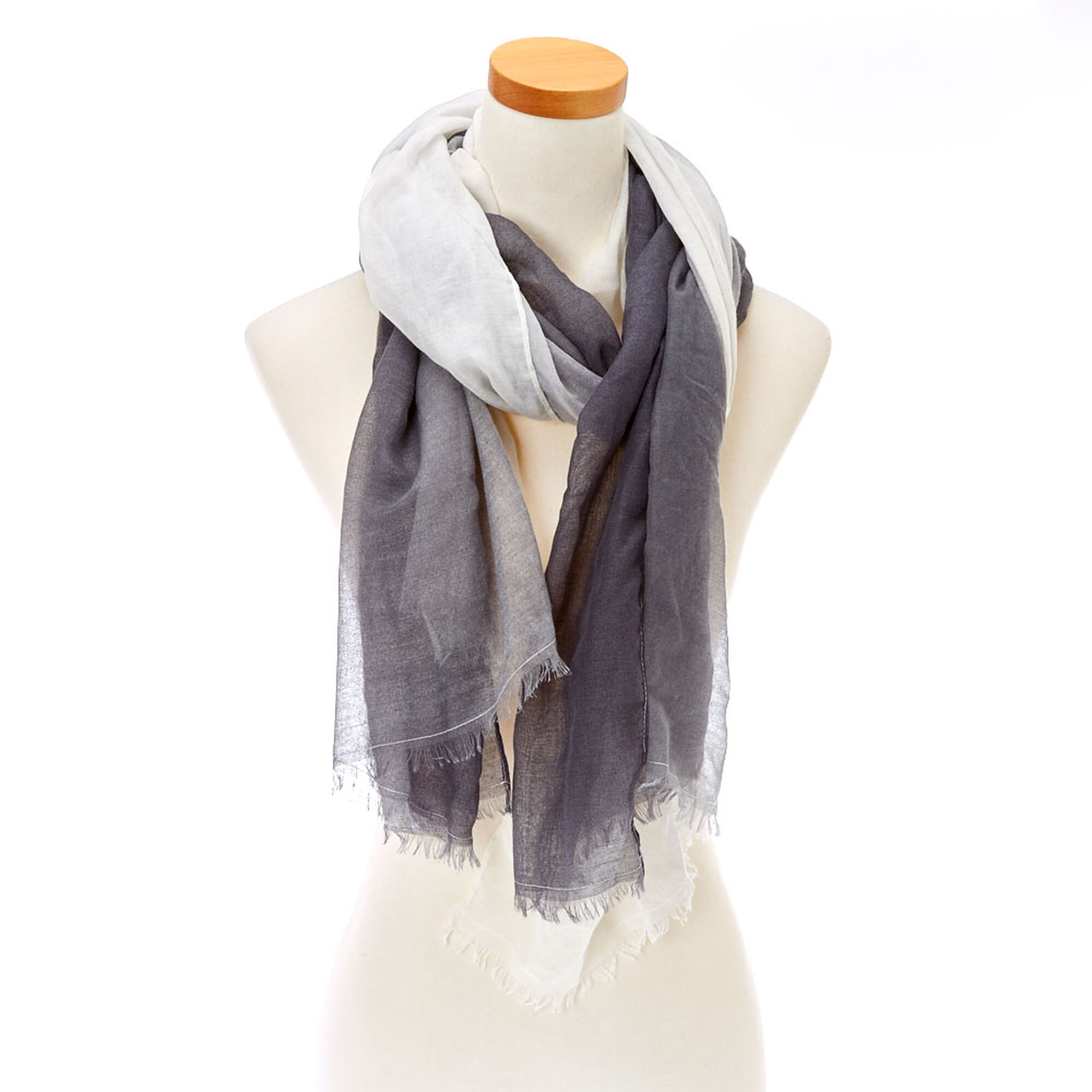 Grey & White Ombre Scarf | Claire's