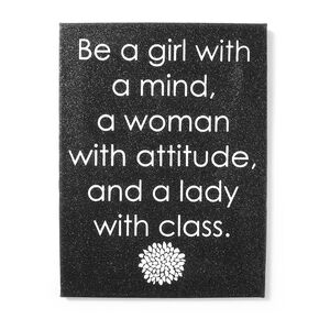 Woman with Attitude Glitter Wall Canvas,