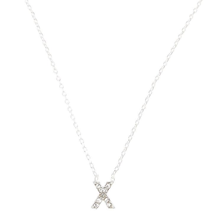 X Pendant Initial Necklace,