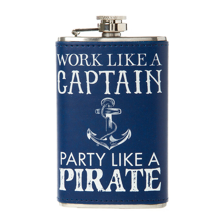 Work Like a Captain Party Like a Pirate Flask,