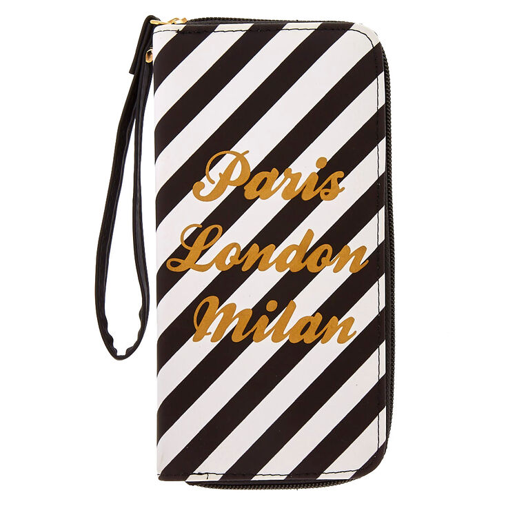 Black + White Striped Wristlet at Icing in Victor, NY | Tuggl