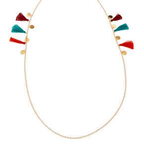 Gold Multi Tassel Sunglasses Chain,