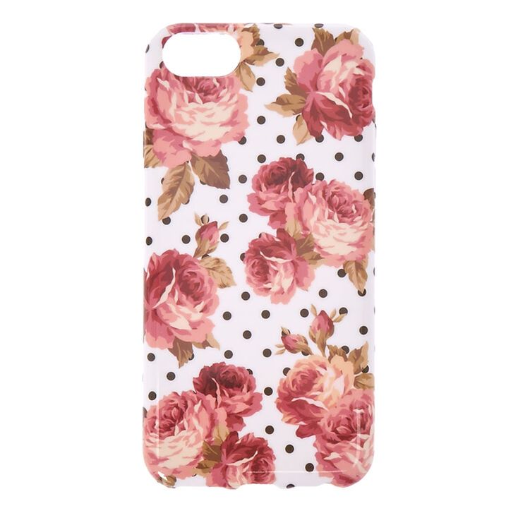 Floral and Polka Dot Phone Case,