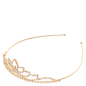 Gold-tone and Crystal Wavy Peak Tiara,