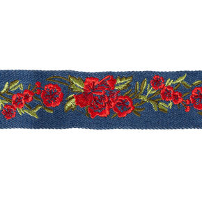 Denim Rose Choker,