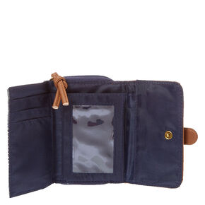 Blue Denim Faux Leather Wallet,
