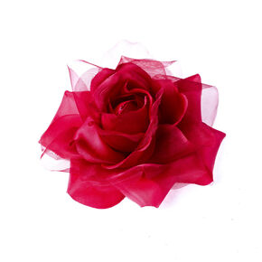 Rose Corsage Hair Clip And Brooch