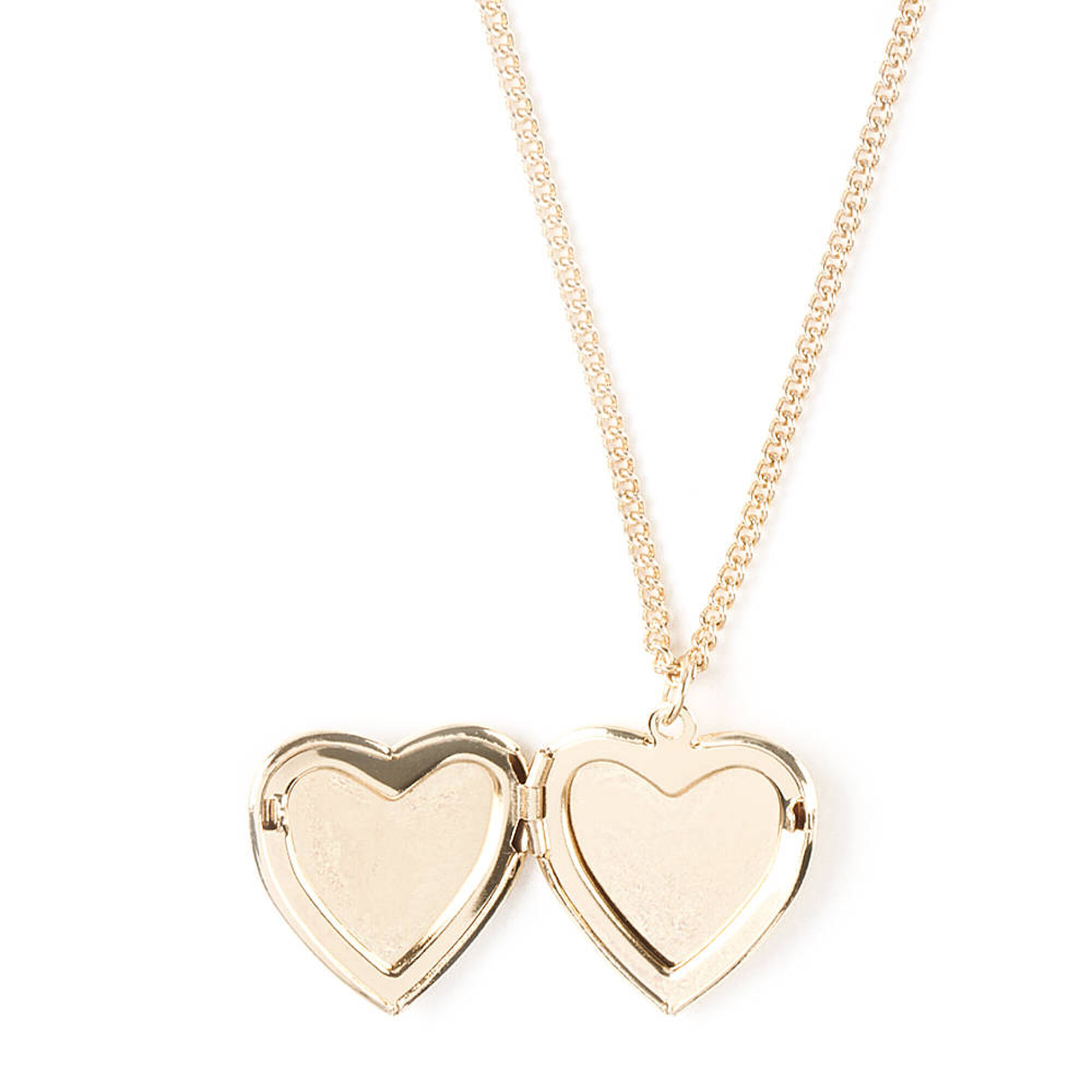 Floral Heart Shaped Locket Pendant Necklace | Claire's US