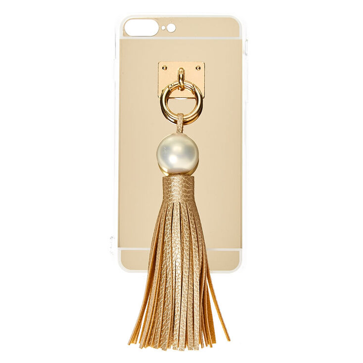 Gold & Pearl Tassel Phone Case at Icing in Victor, NY | Tuggl