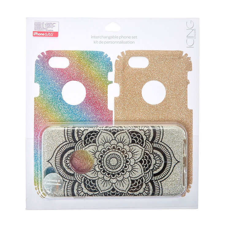 Glitter Interchangeable Phone Case Set,