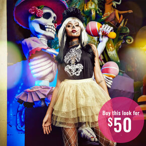 Skeleton Costume Set,