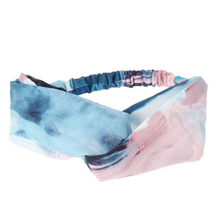 Marbled Watercolor Turban Satin Headwrap,