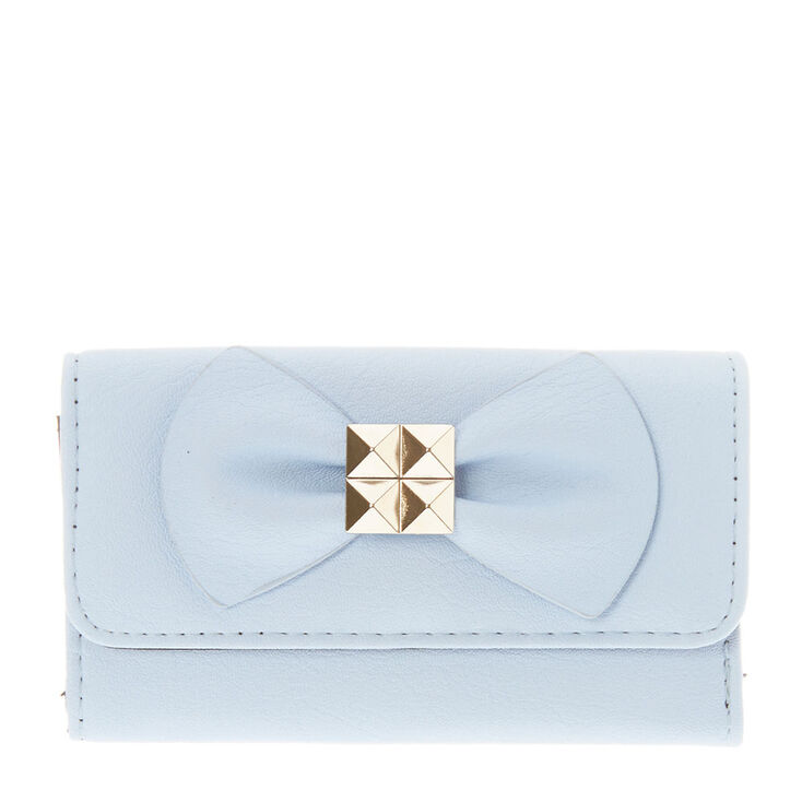 Sky Blue Bow Wallet at Icing in Victor, NY | Tuggl