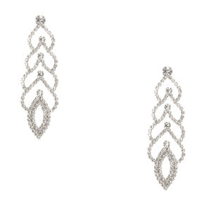 Crystal Scalloped Drop Earrings,