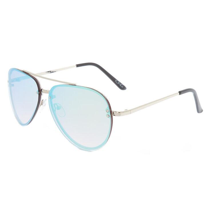 Iridescent Blue Sunglasses,
