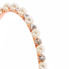 Pearl and Crystal Rose Gold-Tone Headband,