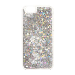 Silver Stars Liquid Fill Phone Case,