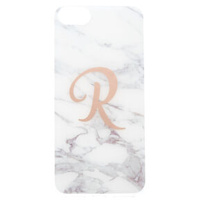 Marbled R Initial Phone Case,