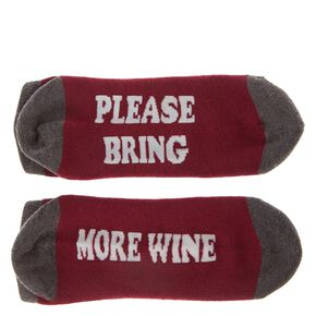 PLEASE BRING MORE WINE Ankle Socks,
