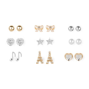 A Song in Paris Stud Earrings Set of 9,
