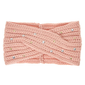 Blush Cold Weather Bling Headwrap,