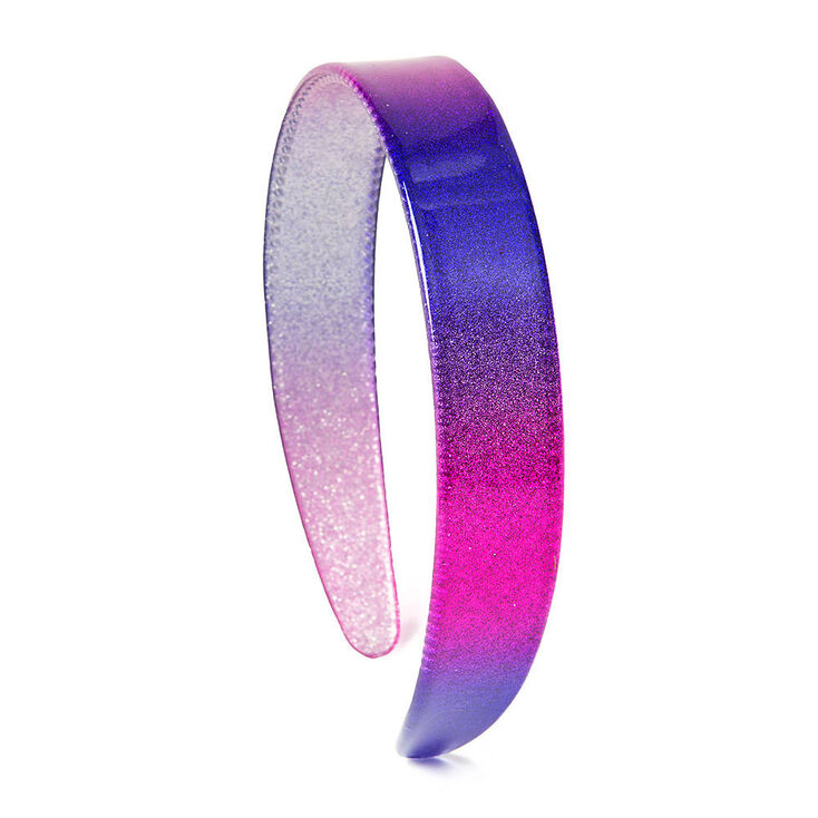 pink and purple ombre glitter headband