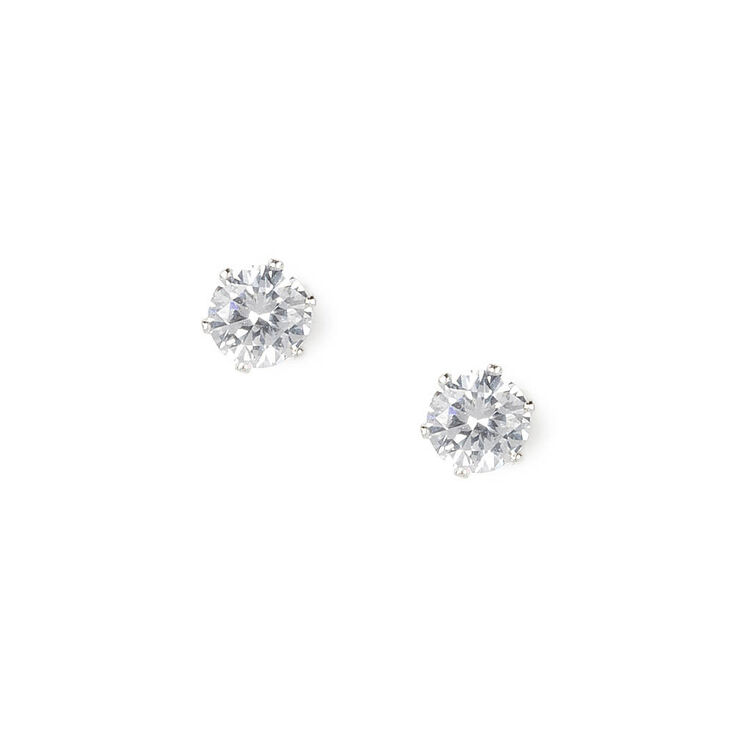 3MM Round Cubic Zirconia Six Prong Set Stud Earrings at Icing in Victor, NY | Tuggl