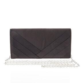 Black Silk Style Occasion Clutch Bag,