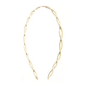 Thin Gold Twist Design Headband,