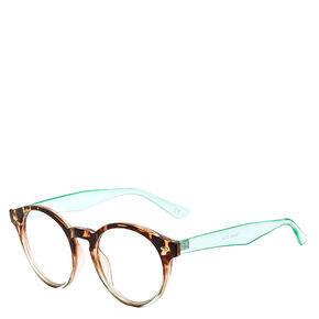 Tortoise Shell and Mint Round Frames,