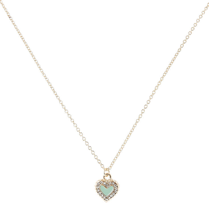 gold tone mint green pendant necklace s us