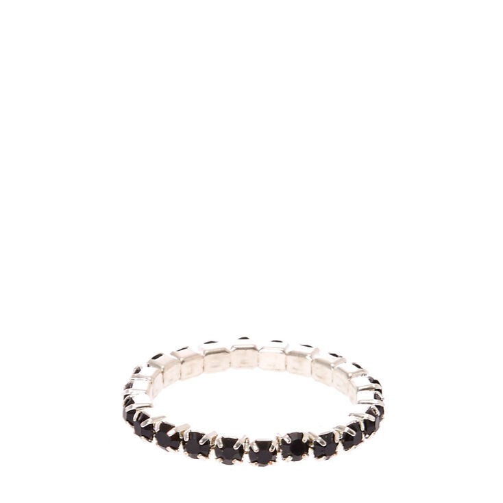 Black Stretch Toe Ring,